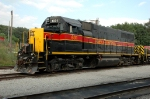 IAIS 601, EMD GP38, is the controlling unit for the NEW IAIS 650 4-axle slug